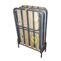 Cama Catre Plegable Con Colchón Reforzado 1,85 X 0,65