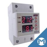 Protector Tension Monofasico 32a Digital Din Volt Amper Baw