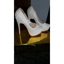 Zapatos De Novia Luciano Marra Sin Uso