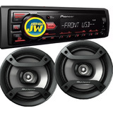 Combo Pioneer Stereo 86 Ub / 85 Usb Aux+ Parlantes 6 1634