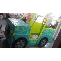 Cama Jeep 1 Plaza Laqueada Diseño Infantil Loreley Mobel