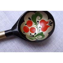 Gigí- Preciosa Cuchara Rusa De Madera Pintada A Mano