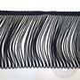 Fleco De Rayon De 10cm Color Negro X 25m, Para Indumentaria