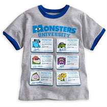 Remera Monster University. Talle6. Orig. Disney Store
