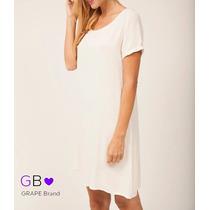 Vestido Bambula Encaje Blanco, Talle Unico, Codigo Vk07