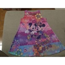 Vestido Solero Disney Minnie Mickey Original 5 Años