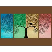 Cuadros Trípticos Texturados - Arbol De La Vida ! En Colores