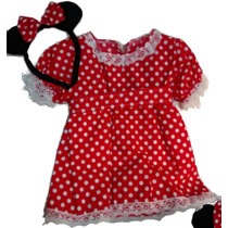 Disfraz Minnie Mouse Para Bebe 6/9 Meses Artesanal A Medida