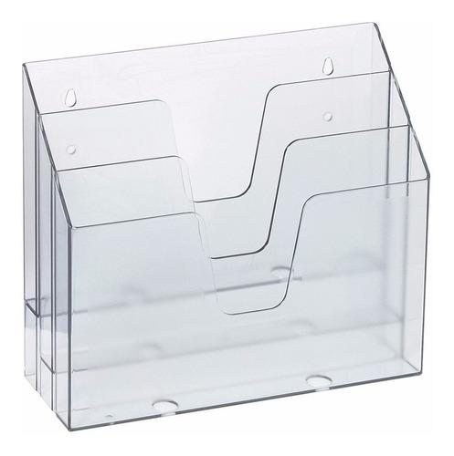 Color Cristal Acrimet Expositor para Folletos Vertical Transparente