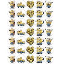 Plancha De Stickers Minions Para Souvenirs Infantiles X35