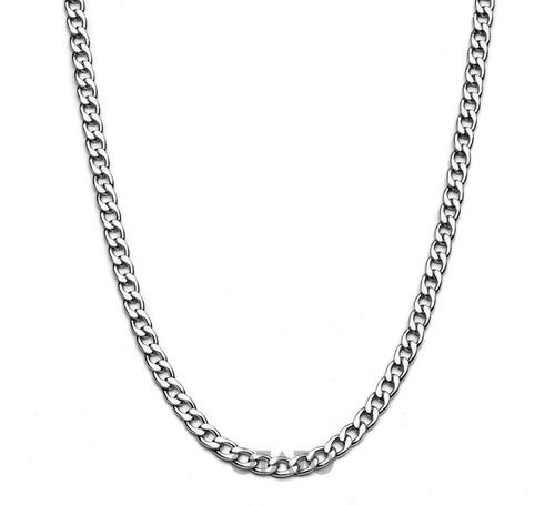 Collar Hombre - Cadena Hombre - Cadenita Collar Eslabón Cubano - Collar Acero Quirúrgico - Cadena Eslabon Cubano Acero
