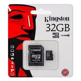 Memoria Micro Sd 32 Gb Kingston Clase 10 3