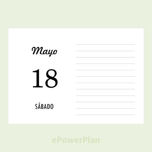 Calendario Diario Para Imprimir 2019.Agenda Calendario Anual 2019 Diario Pdf A6 Para Imprimir