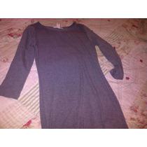 Vestido De Algodon-forever 21-gris Jaspeado.talle S-nuevo