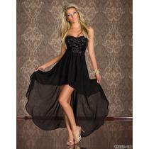Lindisimo Vestido Fiesta Color Negro Importado