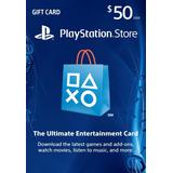 Tarjeta Psn 50 U$d Usa - Psn Card 50