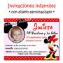 Cumple Minnie 25 Invitaciones Personalizadas + Cartel Regalo