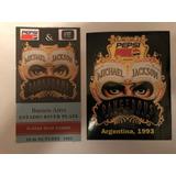 Michael Jackson Entrada Original Argentina Y Calco Impecable
