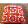 Almohadon Tejido A Mano A Crochet 35 * 35 Cm