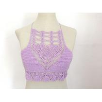 Top Verano Tejido Al Crochet Verano Corpiño Bikini Tejida