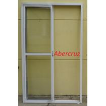Puerta Ventana Balcón Aluminio Blanco Con Vidrio 120x200
