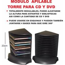 Modulo Porta Cd Dvd Regulable P Escritorio Biblioteca Estan