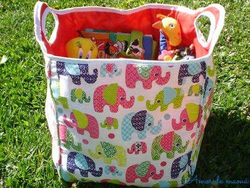 Canasta bolsa de tela para guardar juguetes otros a ars - Cestas para guardar juguetes ...