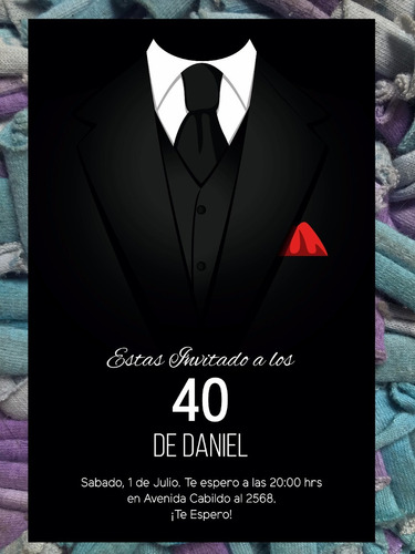 Invitaciones Para 40 Anos
