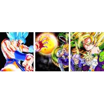 Dragon Ball Z Cuadros Trípticos De 1.20m (dxdxd)