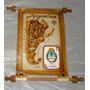 Souvenirs Recuerdo De Argentina Mapa Mini Cuero 12*17 Y Otro