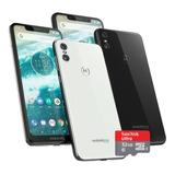 Celular Motorola Moto One 64gb 4gb Con Micro Sd 32gb Regalo