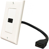 Faceplate Tapa Pared Hdmi C/cable 15cm. Todovision.