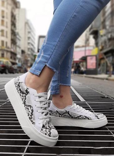 zapatillas mujer tipo converse con plataforma
