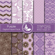 Kit Imprimible Pack Fondos Lilas Violeta 3 Clipart