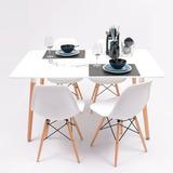 Oferta: Juego De Comedor Nordico 1.40x80  C/ 4 Sillas Eames