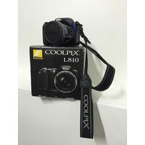 Camara Nikon L810 Con Caja Original + Funda + Accesorios