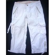 Pantalon Cargo Capri American Eagle Importado Bordado Usa