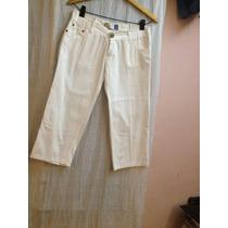 Pantalon -bermuda Blanca Zaff Talle 30