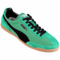 Zapatillas Para Salir Puma Verde Gamuzada
