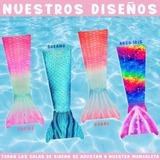 Cola De Sirena / Tritón + Monoaleta Para Nadar Ed. Especial