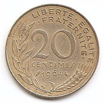 Moneda Francia 20 Céntimes Año1964 Km 930