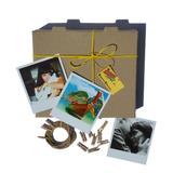 12 Fotos Estilo Polaroid + 12 Mini Broches Guirnalda Regalo