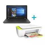Notebook Hp Intel Core I3 15  8gb 1tb Windows 10 + Impresora