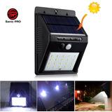 Luz Led Exterior Solar Panel Sensor Movimiento Plafon Farol Jardin Parque Pasillo