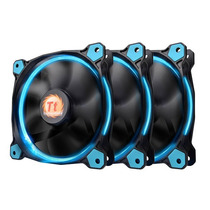 Cooler Thermaltake Pack X3 Fan Riing 120mm Led Azul - Chaco