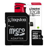 Memoria Microsd 32gb Kingston Clase 10 Micro Sd 80mb/s Uhs-i