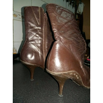 Zapatos Botas De Mujer - Cuero