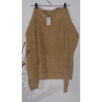 Sweaters Mujer Pelo-de Mono-liquidacion. Color Maiz