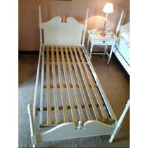 Juego Dormitorio 1 Cama, Mesa De Luz, Espejo, Cómoda