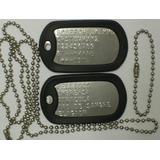 Chapas De Identificación Militar - Dog Tags